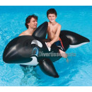 wholesale Security & Surveillance Systems: inflatable orca  rideable 203x102cm BLACK