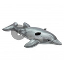 Inflatable dolphin rideable GREY