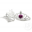 mini silver tiara 7cm