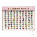 grossiste Bijoux & Montres: lot de 100 bagues  plastiques brillantes mix