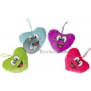 plush heart with smiling face 8cm mix