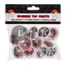 Großhandel Outdoor-Spielzeug: Satz von 12 Kreisel Pirat MIX 4cm