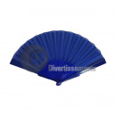 wholesale Costume Fashion: dark blue plastic fan 22cm