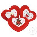 cuore rosso peluche & white ti amo