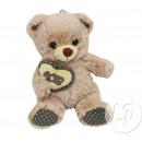 beige orsacchiotto seduta con cuore amore