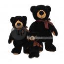 nagyker Játékok:plüss fekete medve 45cm