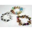 braccialetto elastico e mix conchiglie