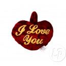 coeur en peluche saint valentin i love you  9cm