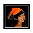 Weihnachten Hut mit schwarzer Ordnung ORANGE