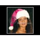 groothandel Magnetron & ovens: Kerst muts met  bont pompom volwassen roze