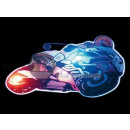 badge / magnet LED bike yellow helmet