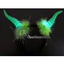 headband bright green goat horns