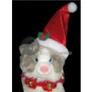 hurtownia Zabawki: czapka świąteczna dla zwierząt z naszyjnikiem