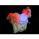 LED weißes Pferd Abzeichen
