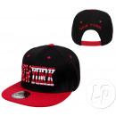 snapback cap new york red & black