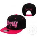 snapback kapelusz New York różowy i czarny