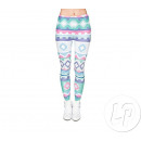 pastel patchwork legging pants