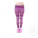 Großhandel Hosen: Hose lila Patchwork legging