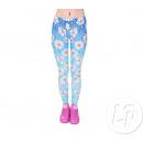 Großhandel Hosen: Hosen legging blauen Gänseblümchen