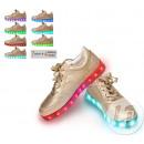 LED light shoes size 40 gold