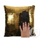wholesale Cushions & Blankets: Pillow mermaid black / gold 38cm
