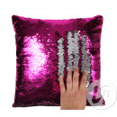 wholesale Cushions & Blankets: Pillow mermaid fuchsia / silver 38cm