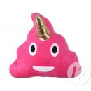 wholesale Cushions & Blankets: Pillow emoticone caca unicorn pink 29cm