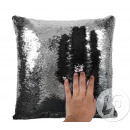 wholesale Cushions & Blankets: Pillow mermaid black / silver 38cm