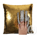 wholesale Cushions & Blankets: Pillow mermaid silver / gold 38cm