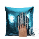 wholesale Cushions & Blankets: Pillow mermaid turquoise / silver 38cm