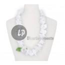 Großhandel Ketten: 60mm weiße Blumenkette und ein Blatt