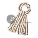 Großhandel Tücher & Schals: Schal Mann brown & beige Argyle Weiß