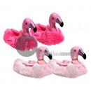 pink flamingo slippers plush mix size 40/4