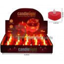 wholesale Decoration: 24 candles red heart led flickering flame 4cm