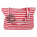 Großhandel sonstige Taschen: rot / weiß gestreifte marine Strandtasche aus ...