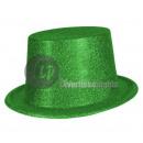 Großhandel Kopfbedeckung: grüner PVC-Hut mit Pailletten