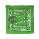 Großhandel Tücher & Schals:grüner Kaschmir Bandana