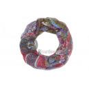 Großhandel Tücher & Schals: Paisley-Schal Rohr khaki / rot / lila