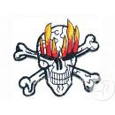 distintivo bordo cranio e fiamme