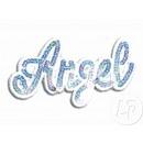 distintivo bordo Angelo blu e bianco