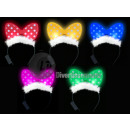 headband bright bow tie with plush mi