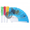 wholesale Costume Fashion: fan with flashy mix patterns 27cm