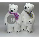nagyker Játékok: plüss jegesmedve fehér keverék 45cm