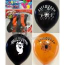 set of 5 balls 30cm black halloween designs &
