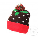 Knitted bonnet of christmas with pompon