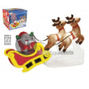 inflatable and bright santa claus with sled and 2