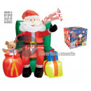 wholesale Decoration: santa sitting inflatable, bright and sound 1.22