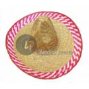 sombrero stro fuchsia en witte rand