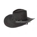 cowboy hat black imitation leather