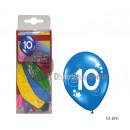 lot 12 balloons 10 years 30cm